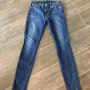 7 For All Mankind Jeans - Dark wash super skinny stretchy jeans- NEW